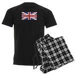 UNION JACK UK BRITISH FLAG Men's Dark Pajamas