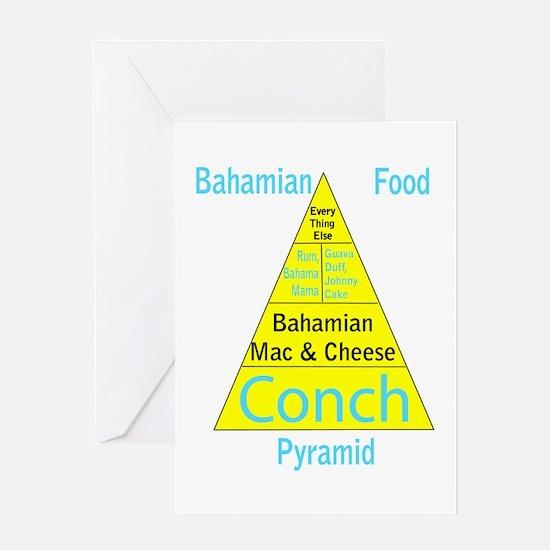 Bahamian Food Pyramid Greeting Card