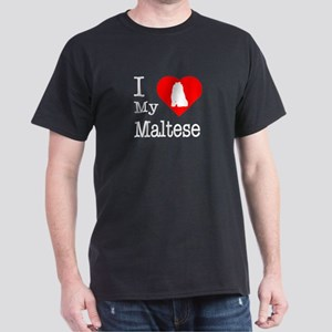 I Love My Maltese Dark T-Shirt