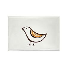 Retro brown bird Rectangle Magnet