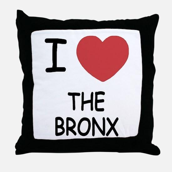 I heart the bronx Throw Pillow