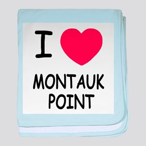 I heart montauk point baby blanket