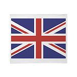 UNION JACK UK BRITISH FLAG Throw Blanket