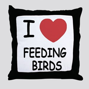 I heart feeding birds Throw Pillow