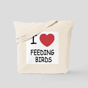 I heart feeding birds Tote Bag