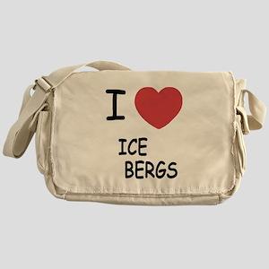 I heart icebergs Messenger Bag