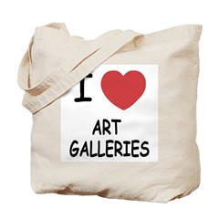 I heart art galleries Tote Bag