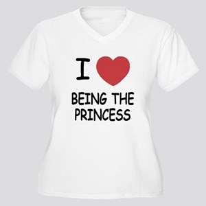 I heart being the princess Women's Plus Size V-Nec