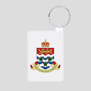 Cayman Islands Chess Aluminum Photo Keychain