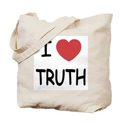 I heart truth Tote Bag