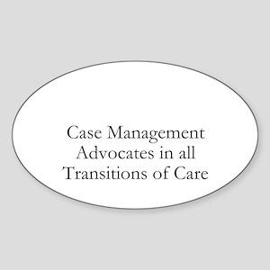 Case Management Advocates Sticker (Oval)