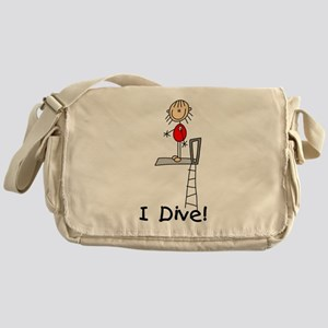 Girl I Dive Messenger Bag