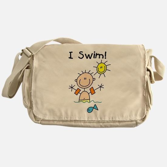 Boy I Swim Messenger Bag