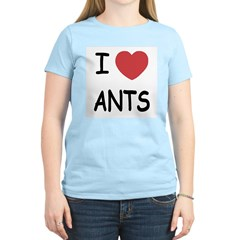 I heart ants Women's Light T-Shirt