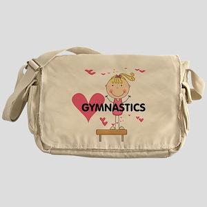 Blond Girl Gymnast Messenger Bag