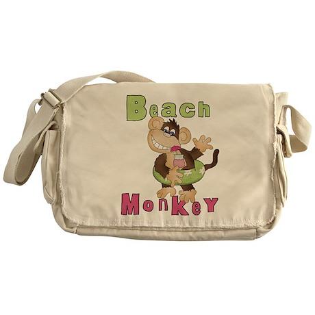 Green Beach Monkey Messenger Bag