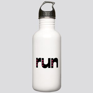 run - pink polka dots Stainless Water Bottle 1.0L