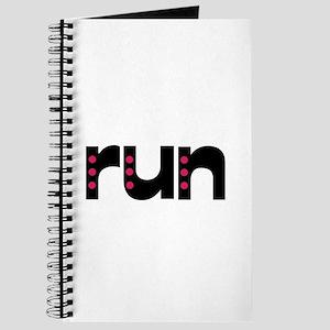 run - pink polka dots Journal