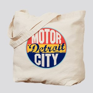Detroit Vintage Label Tote Bag