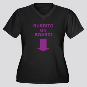 Baarrito! Women's Plus Size V-Neck Dark T-Shirt