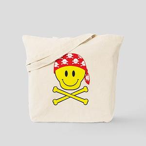 Smiley Skull Tote Bag
