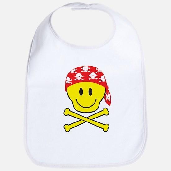 Smiley Skull Bib