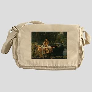 Lady of Shalott by JW Waterhouse Messenger Bag