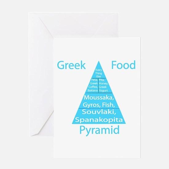 Greek Food Pyramid Greeting Card