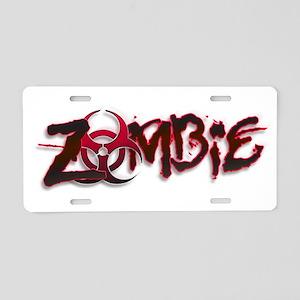 Zombie Biohazard Halloween Aluminum License Plate