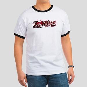 Zombie Biohazard Halloween Ringer T