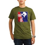 Red White and Blue BMX Bike Rider Organic Men's T-