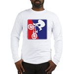 Red White and Blue BMX Bike Rider Long Sleeve T-Sh