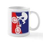 Red White and Blue BMX Bike Rider Mug