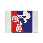 Red White and Blue BMX Bike Rider Rectangle Magnet