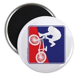 Red White and Blue BMX Bike Rider Magnet