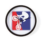 Red White and Blue BMX Bike Rider Wall Clock