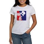 Red White and Blue BMX Bike Rider Women's T-Shirt