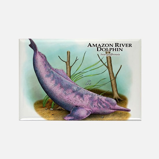 Amazon River Dolphin Rectangle Magnet
