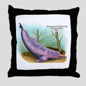 Amazon River Dolphin Throw Pillow