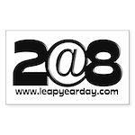2@8 Sticker (Rectangle 10 pk)