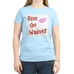 Kiss the Waiver Women's Pink T-Shirt