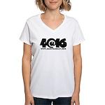 4@16 Women's V-Neck T-Shirt