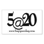 5@20 Sticker (Rectangle 50 pk)