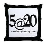 5@20 Throw Pillow