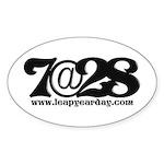 7@28 Sticker (Oval)