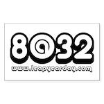 8@32 Sticker (Rectangle 50 pk)