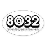 8@32 Sticker (Oval 50 pk)