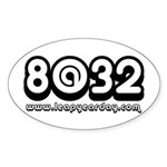 8@32 Sticker (Oval 10 pk)