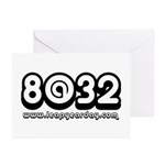 8@32 Greeting Cards (Pk of 20)