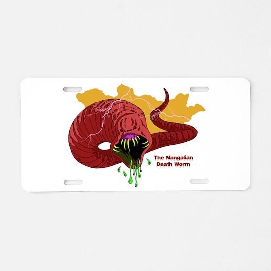 Mongolian Death Worm Aluminum License Plate